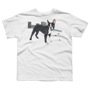 Attack of the Colossal Boston Terrier!!! Boy's T-Shirt