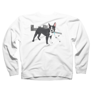 Attack of the Colossal Boston Terrier!!! Crew Neck Sweatshirt