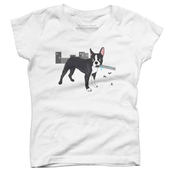 Attack of the Colossal Boston Terrier!!! Girl's T-Shirt
