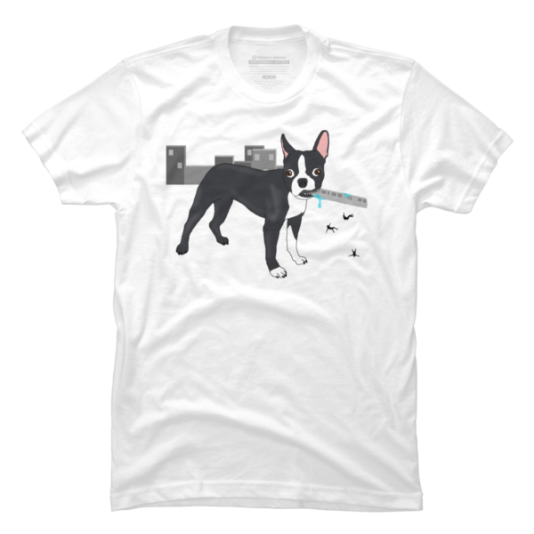Attack of the Colossal Boston Terrier!!! Men's T-Shirt