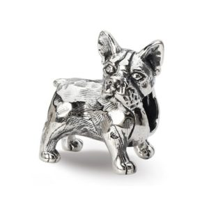 Sterling Silver Reflections Boston Terrier Bead Charm