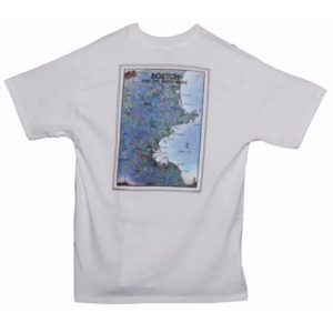 BOSTON AND THE NORTH SHORE WATERWAYS COLLECTION WHITE HANES T-SHIRT - Large
