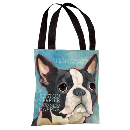 Boston Terrier 1 Tote Bag by Ursula Dodge Tote Bag - 18x18