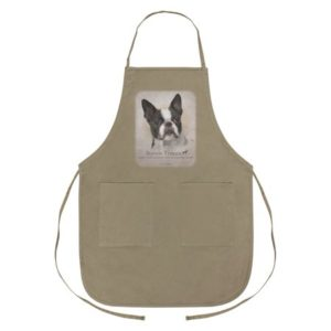 Boston Terrier Dog Breed Apron with Pockets