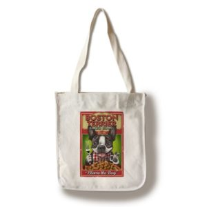 Boston Terrier - Retro Baked Beans Ad- Lantern Press Artwork (100% Cotton Tote Bag - Reusable)