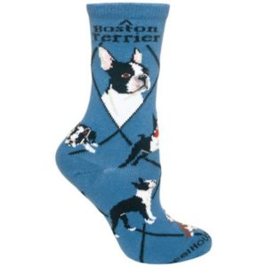 Wheel House Designs - Boston Terrier on Blue - 10-13