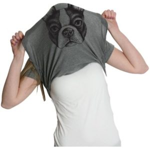 Womens Ask Me About My Boston Terrier Funny Dog Flip Up T shirt