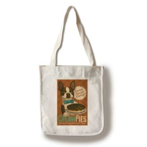 Boston Terrier - Retro Cream Pie Ad - Lantern Press Artwork (100% Cotton Tote Bag - Reusable)