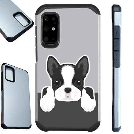 WORLD ACC Fusion Case Compatible with Samsung Galaxy S20 S 20 Plus Hybrid TPU Phone Cover (Cute Dog Boston Terrier)